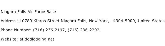 Niagara Falls Air Force Base Address Contact Number
