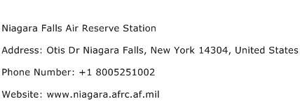 Niagara Falls Air Reserve Station Address Contact Number