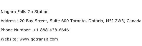 Niagara Falls Go Station Address Contact Number