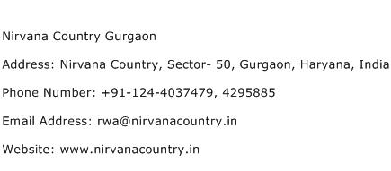 Nirvana Country Gurgaon Address Contact Number