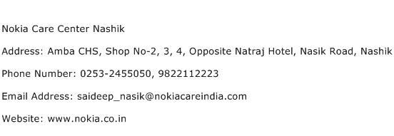 Nokia Care Center Nashik Address Contact Number