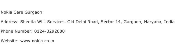 Nokia Care Gurgaon Address Contact Number