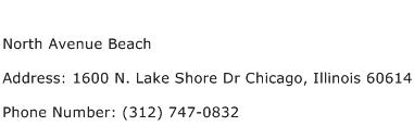 North Avenue Beach Address Contact Number