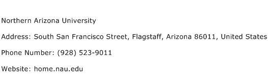 Northern Arizona University Address Contact Number