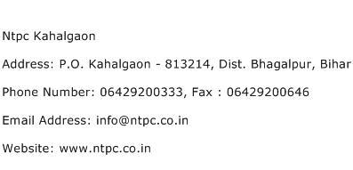 Ntpc Kahalgaon Address Contact Number