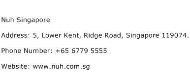 Nuh Singapore Address Contact Number