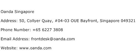 Oanda Singapore Address Contact Number