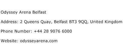 Odyssey Arena Belfast Address Contact Number