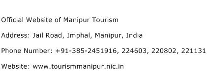 Official Website of Manipur Tourism Address Contact Number