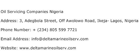 Oil Servicing Companies Nigeria Address Contact Number