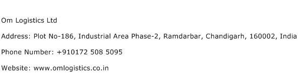 Om Logistics Ltd Address Contact Number
