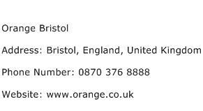 Orange Bristol Address Contact Number