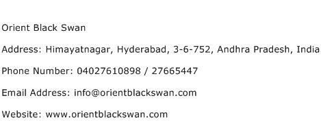 Orient Black Swan Address Contact Number
