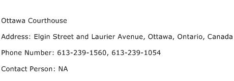 Ottawa Courthouse Address Contact Number