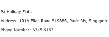 Pa Holiday Flats Address Contact Number