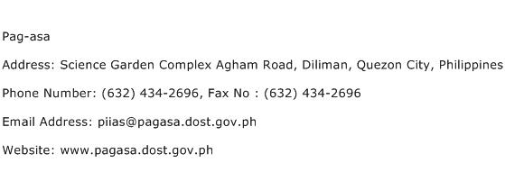 Pag asa Address Contact Number