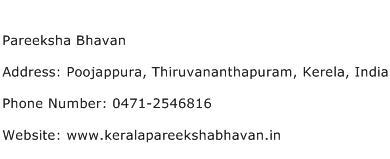 Pareeksha Bhavan Address Contact Number