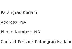 Patangrao Kadam Address Contact Number