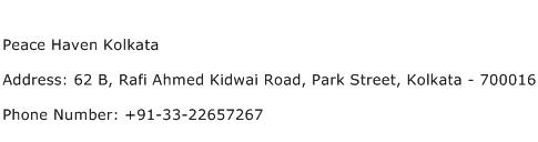 Peace Haven Kolkata Address Contact Number