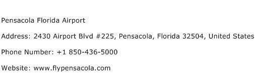 Pensacola Florida Airport Address Contact Number