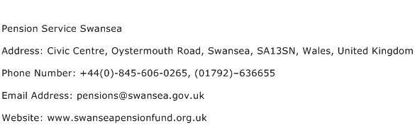 Pension Service Swansea Address Contact Number