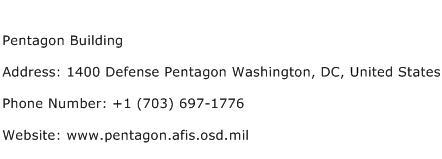 Pentagon Building Address Contact Number