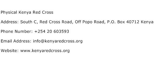 Physical Kenya Red Cross Address Contact Number