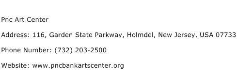 Pnc Art Center Address Contact Number