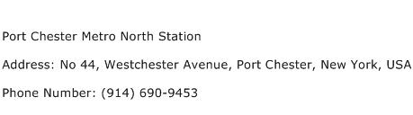 Port Chester Metro North Station Address Contact Number