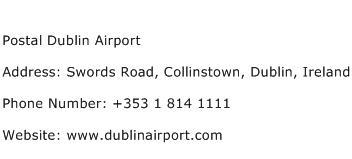 Postal Dublin Airport Address Contact Number
