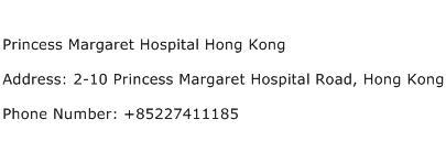 Princess Margaret Hospital Hong Kong Address Contact Number