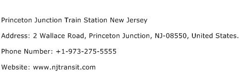 Princeton Junction Train Station New Jersey Address Contact Number