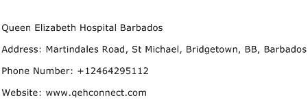 Queen Elizabeth Hospital Barbados Address Contact Number