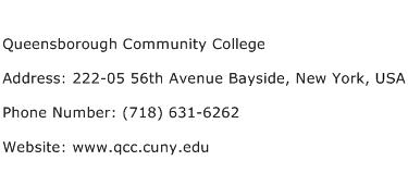 Queensborough Community College Address Contact Number