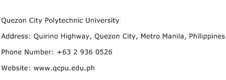 Quezon City Polytechnic University Address Contact Number