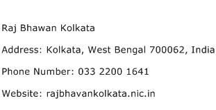 Raj Bhawan Kolkata Address Contact Number