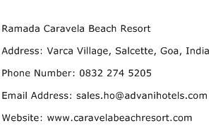 Ramada Caravela Beach Resort Address Contact Number