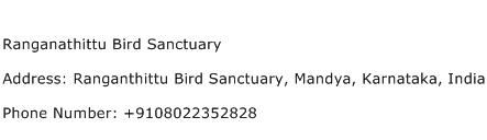 Ranganathittu Bird Sanctuary Address Contact Number