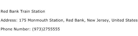 Red Bank Train Station Address Contact Number