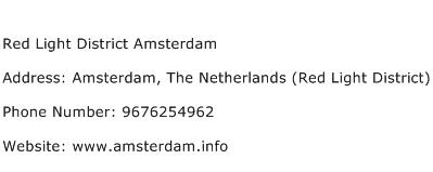 Red Light District Amsterdam Address Contact Number