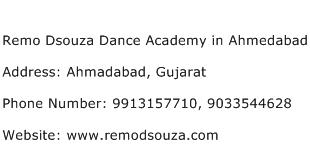 Remo Dsouza Dance Academy in Ahmedabad Address Contact Number