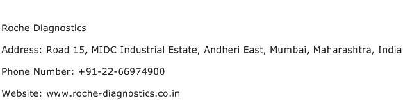 Roche Diagnostics Address, Contact Number of Roche Diagnostics