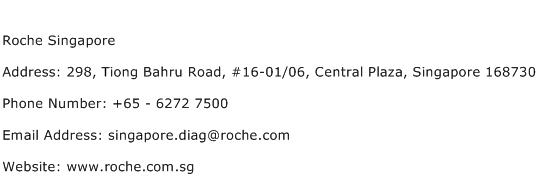 Roche Singapore Address Contact Number