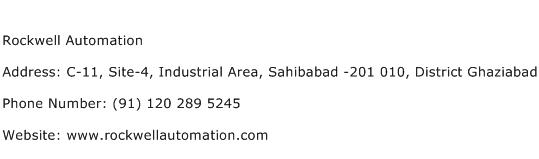 Rockwell Automation Address Contact Number