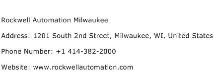 Rockwell Automation Milwaukee Address Contact Number