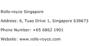 Rolls royce Singapore Address Contact Number