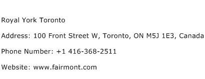 Royal York Toronto Address Contact Number