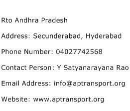 Rto Andhra Pradesh Address Contact Number