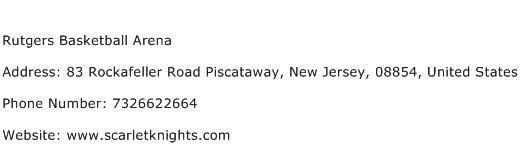Rutgers Basketball Arena Address Contact Number