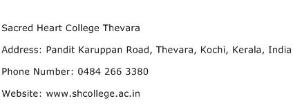 Sacred Heart College Thevara Address Contact Number